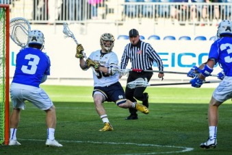Matt Kavanagh launched nine shots at Duke.