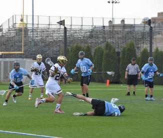 Nick Ossello creates space versus Carolina defense.