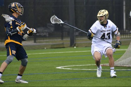 Matt Landis and the ND  defense held Marquette to a pair of goals in the second half.