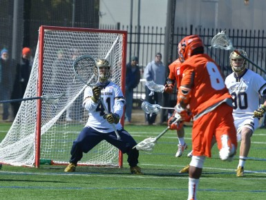 Irish Goalie Shane Doss comes up big late in the first half.
