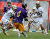 Matt Landis limited Lyle Thompson to 1-10 shooting.