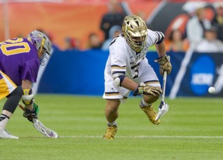 I got this....PJ Finley won 16/25 faceoffs against Albany.