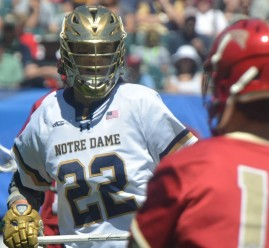Senior Jack Near collected three ground balls while leading the Irish in transition.