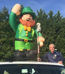 Paul Finley and The Leprechaun.
